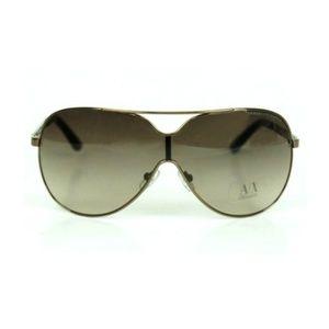 Armani Exchange Women Men Shield Sunglasses Bronze